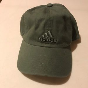 Green adidas dad hat